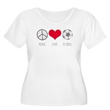Peace Love Futbol T-Shirt