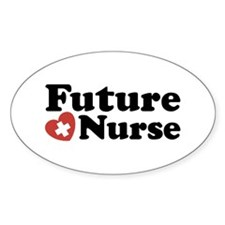 Future Nurse Oval Decal