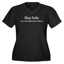 Unique Tech Women's Plus Size V-Neck Dark T-Shirt