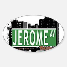 Jerome Av, Bronx, NYC Oval Decal