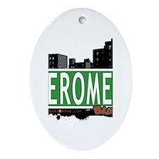Jerome Av, Bronx, NYC Oval Ornament