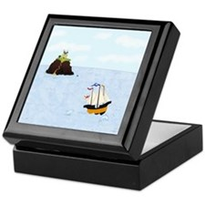 Sailing by the Castle Keepsake Box