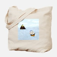 Sailing by the Castle Tote Bag