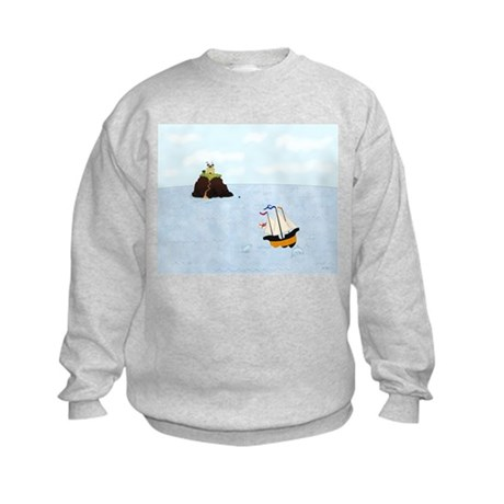 Sailing by the Castle Kids Sweatshirt