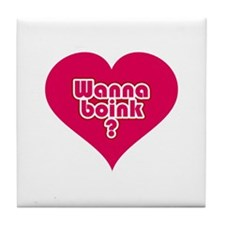 Wanna Boink? Tile Coaster