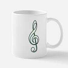 Open Green Treble Mug