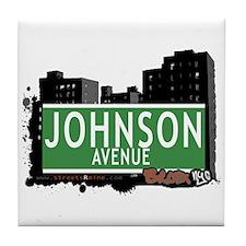Johnson Av, Bronx, NYC Tile Coaster
