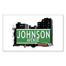 Johnson Av, Bronx, NYC Rectangle Decal