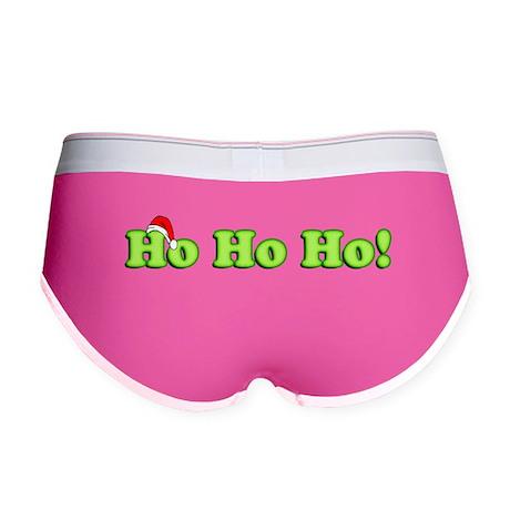 Ho Ho Ho Christmas Green Women's Boy Brief