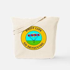 Enjoy Life Go Skydiving Tote Bag
