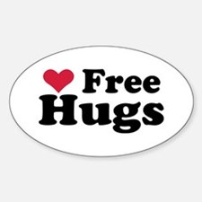 Free Hugs Oval Decal