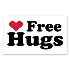 Free Hugs Rectangle Decal
