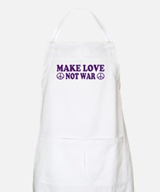 Make love not war - peace Apron
