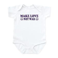 Make love not war - peace Infant Bodysuit
