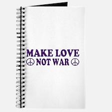 Make love not war - peace Journal