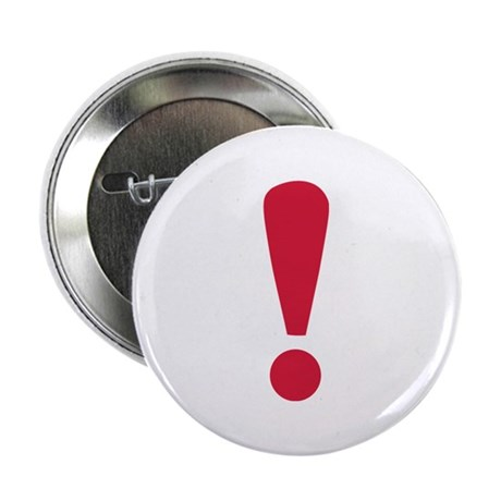 "Exclamation point 2.25"" Button (100 pack)"