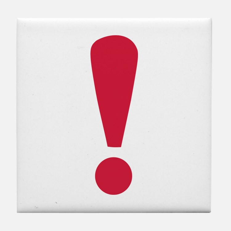 Exclamation point Tile Coaster