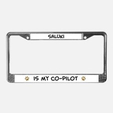 Co-pilot: Saluki License Plate Frame
