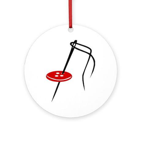 Needle - button Ornament (Round)