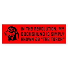 My Dachshund... Revolution Bumper Bumper Sticker