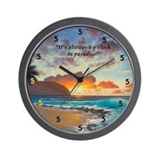 Northshore 5 o'clock Wall Clock