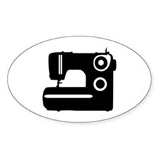 Sewing machine Oval Decal