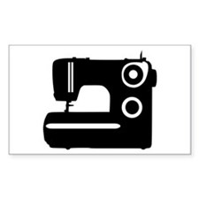 Sewing machine Rectangle Decal
