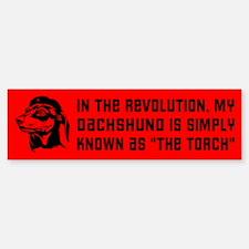 My Dachshund... Revolution Bumper Bumper Bumper Sticker