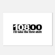 108:00 - I'll Take The First Shift Postcards (Pack