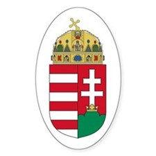 Hungary Coat of Arms Oval Decal