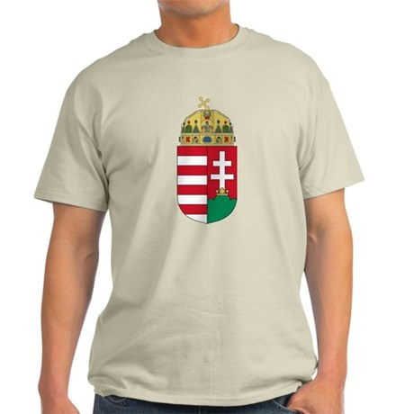 Hungary Coat of Arms (Front) Light T-Shirt