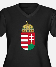 Hungary Coat of Arms (Front) Women's Plus Size V-N