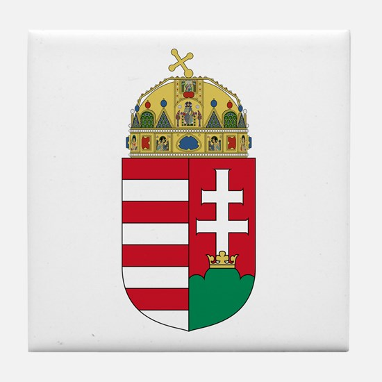 Hungary Coat of Arms Tile Coaster