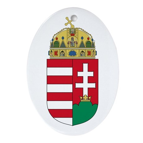 Hungary Coat of Arms Oval Ornament