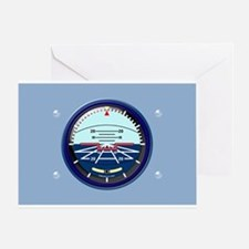 Pilot Artificial Horizon Greeting Cards