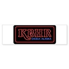 KBHR Neon Sign Bumper Car Sticker