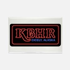 KBHR Neon Sign Rectangle Magnet