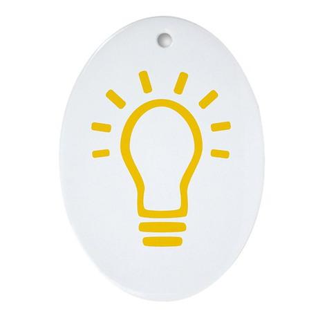 Bulb Oval Ornament