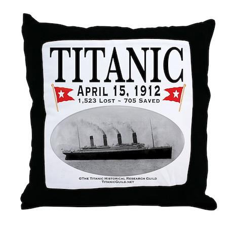 Titanic Ghost Ship (white) Throw Pillow