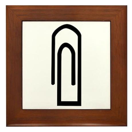 Paper clip Framed Tile