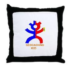 Geocaching kid Throw Pillow