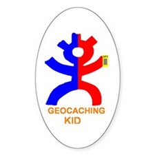 Geocaching kid Oval Decal