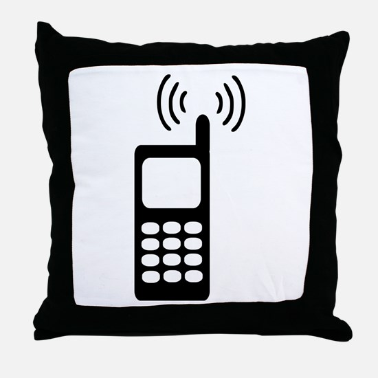 Cellphone Throw Pillow