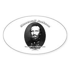Stonewall Jackson 02 Oval Decal