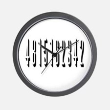 3D 4 8 15 16 23 42 Lost Numbers' Wall Clock