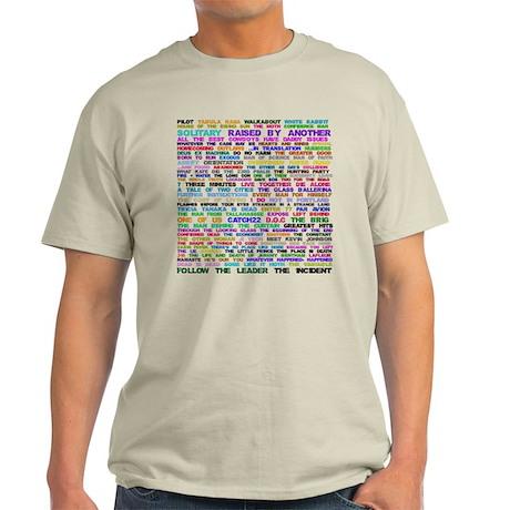 Lost Episode Titles Light T-Shirt