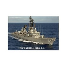 USS WADDELL Rectangle Magnet