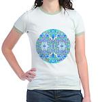 Butterfly Mandala Jr. Ringer T-Shirt