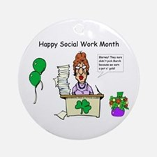 Social Work Month Desk2 Ornament (Round)