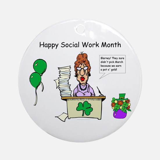 Social Work Month Desk2 Ornament (Round)